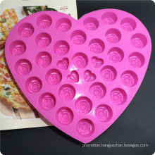 30 Silicone Tray Pop Cake Stick Mould with 4 Love Chocolate Cake Mould